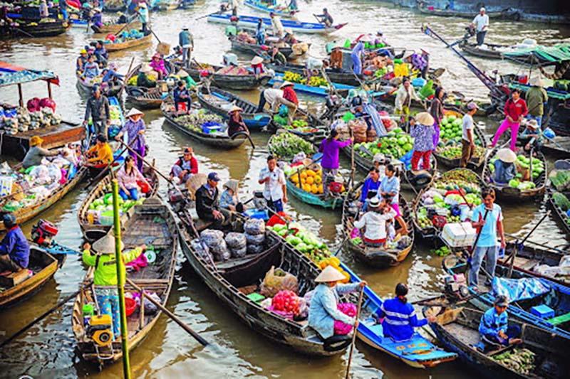 Chợ nổi: Nét văn hóa vùng sông nước